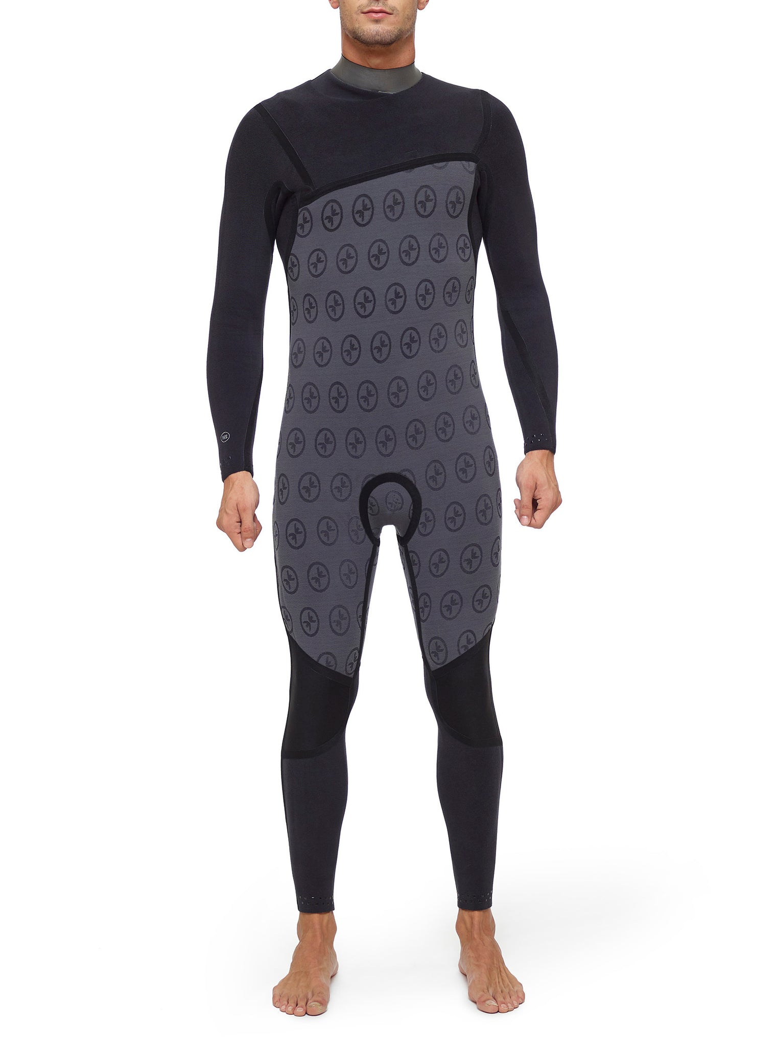 Wetsuit Man Competition 4/3 Chest Zip Black