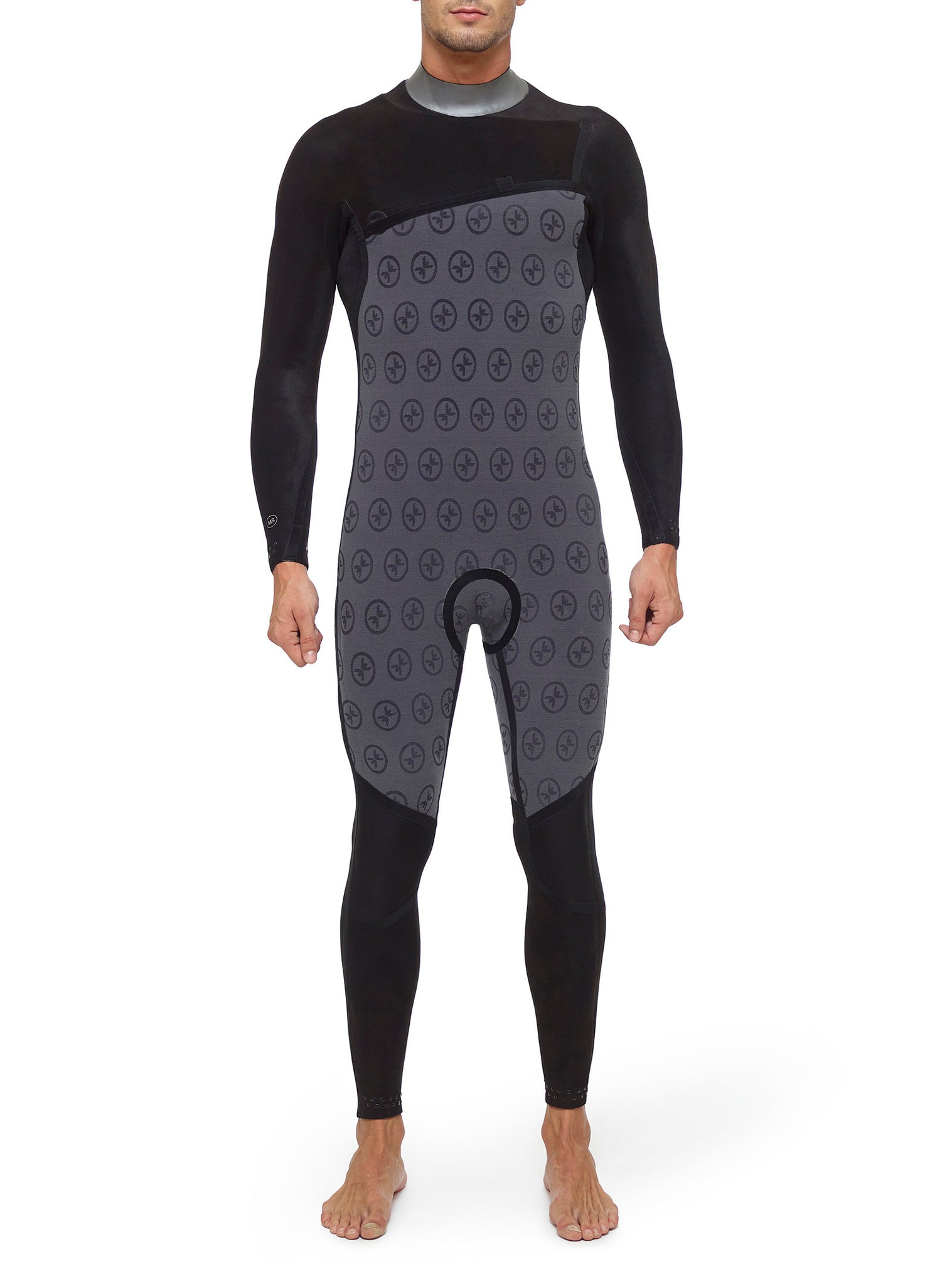 Wetsuit Man Competition 4/3 Zipperless Black