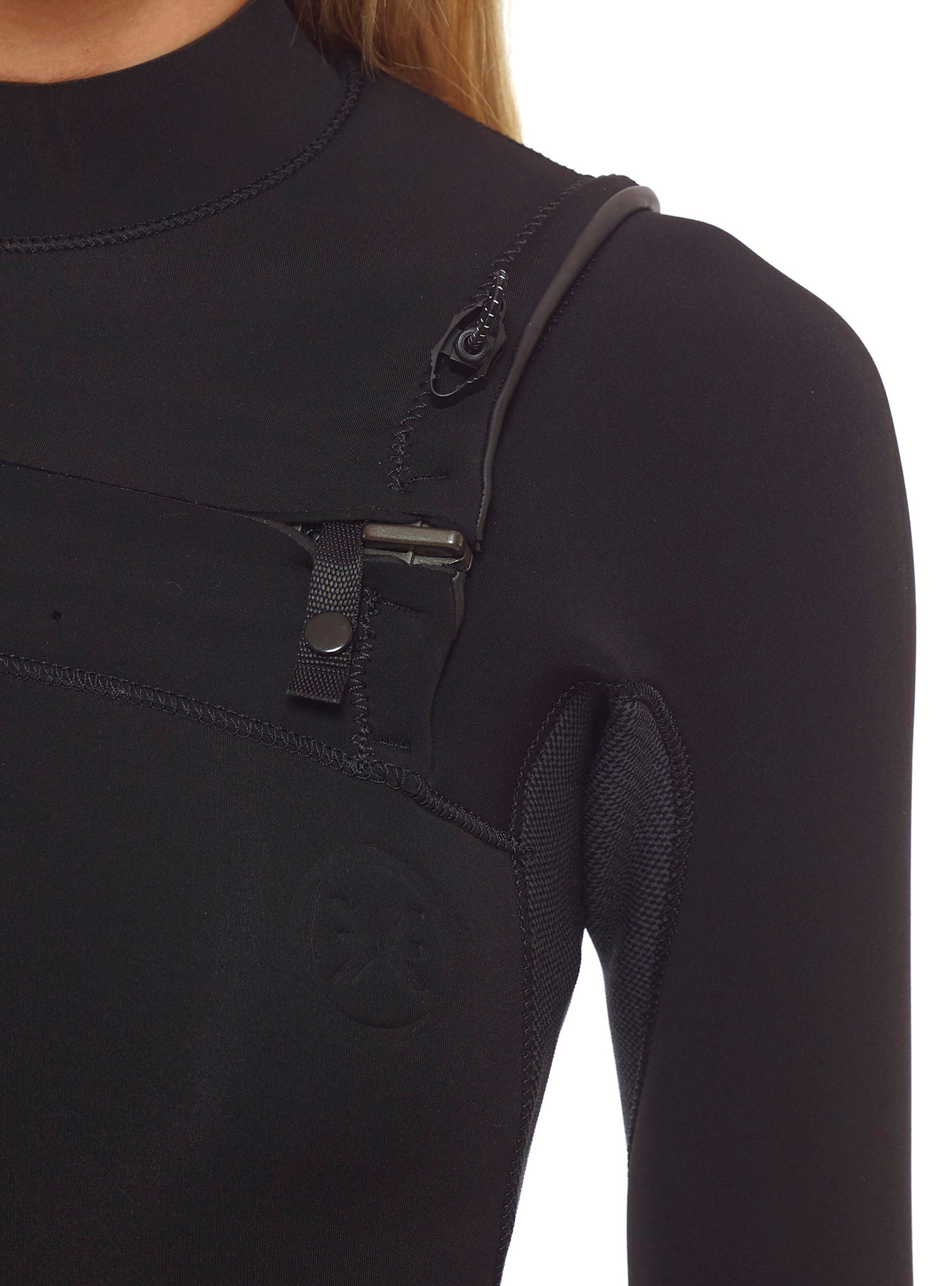 Wetsuit Woman Competition 4/3 Chest Zip Black