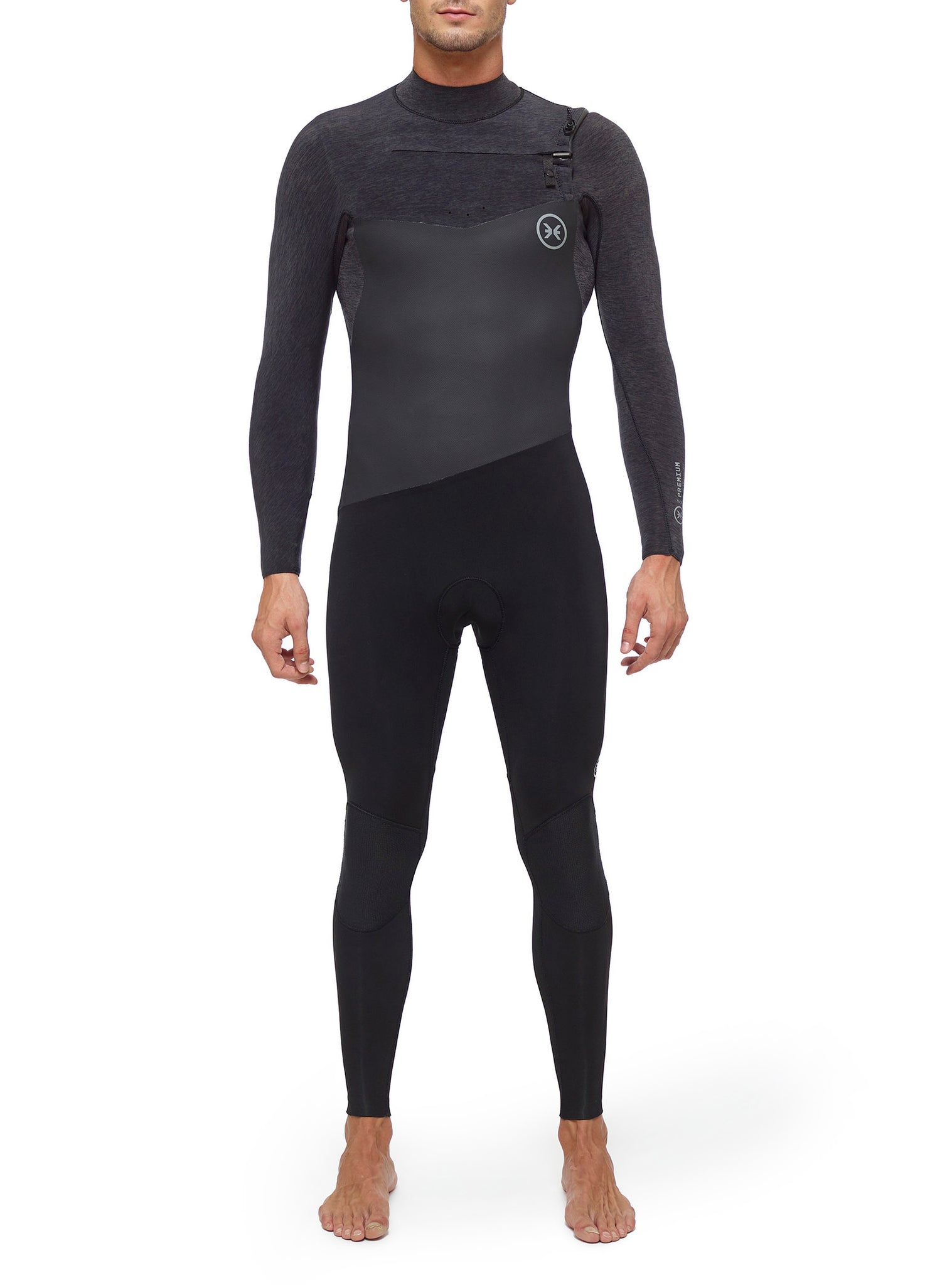 Wetsuit Man Premium 4/3 Chest Zip Dark Grey