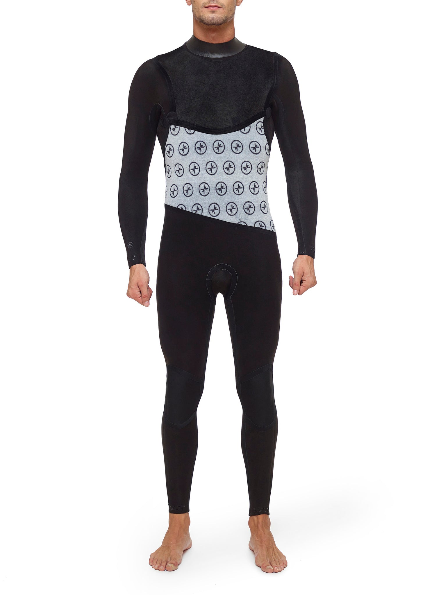 Wetsuit Man Premium 4/3 Chest Zip Black