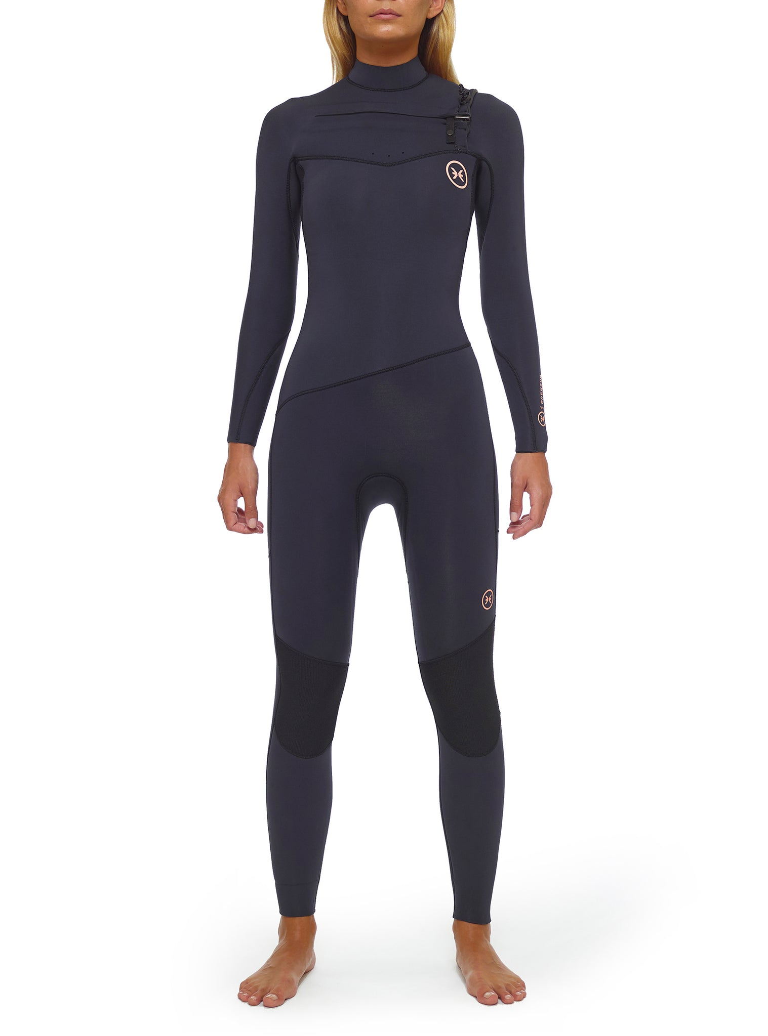 Wetsuit Woman Premium 4/3 Chest Zip Dark Blue
