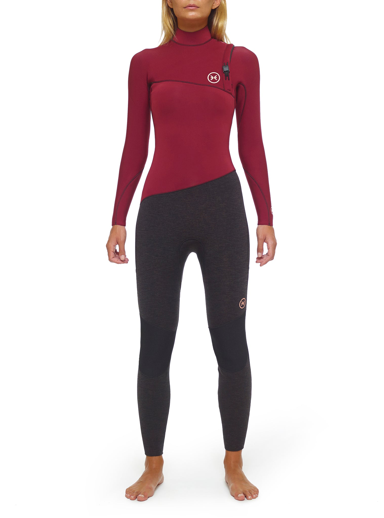 Wetsuit Woman Premium 4/3 Zipperless Red