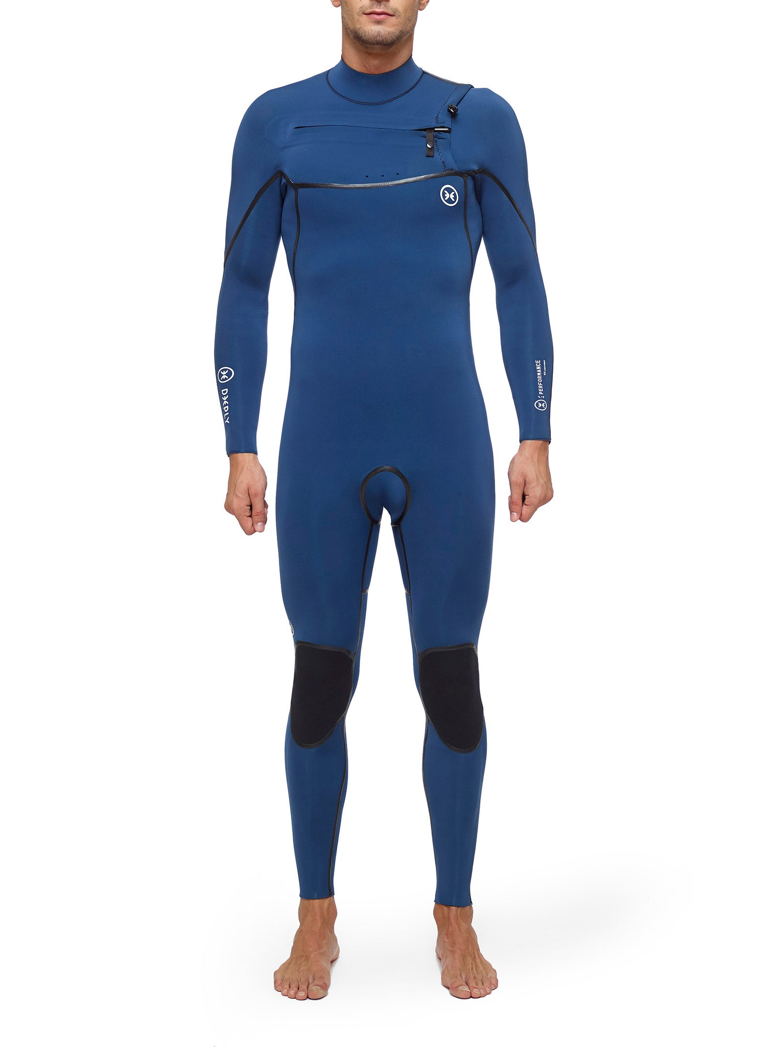 Wetsuit Man Performance 4/3 Chest Zip Dark Blue