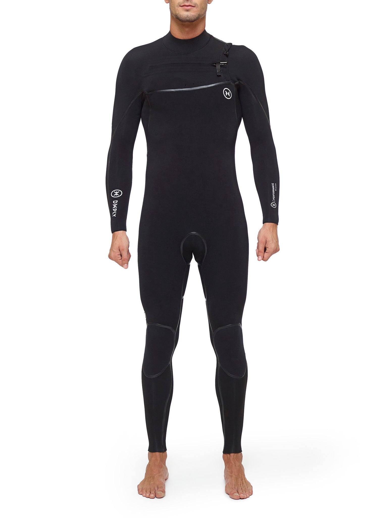 Wetsuit Man Performance 4/3 Chest Zip Black