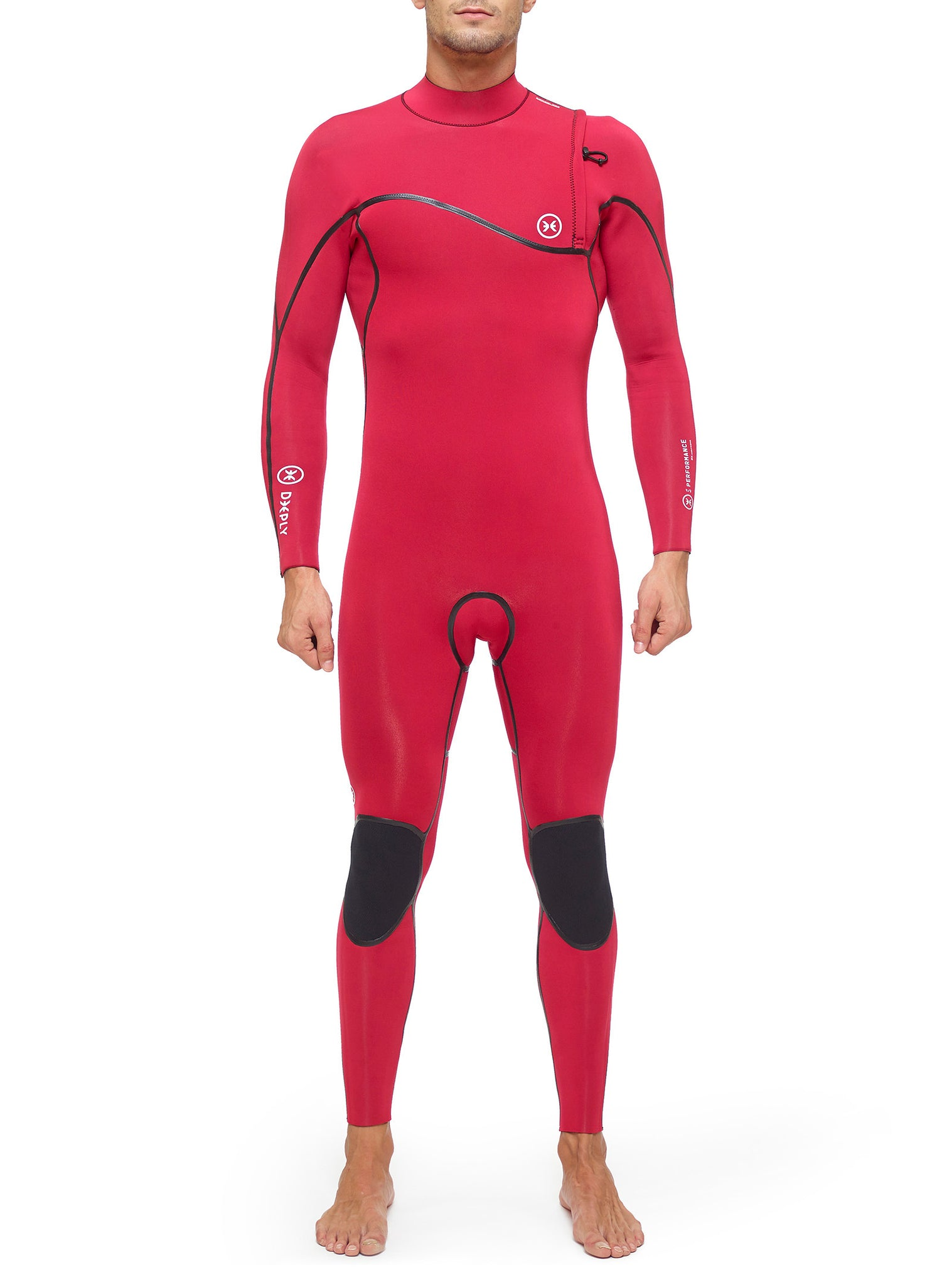 Wetsuit Man Performance 4/3 Zipperless Red