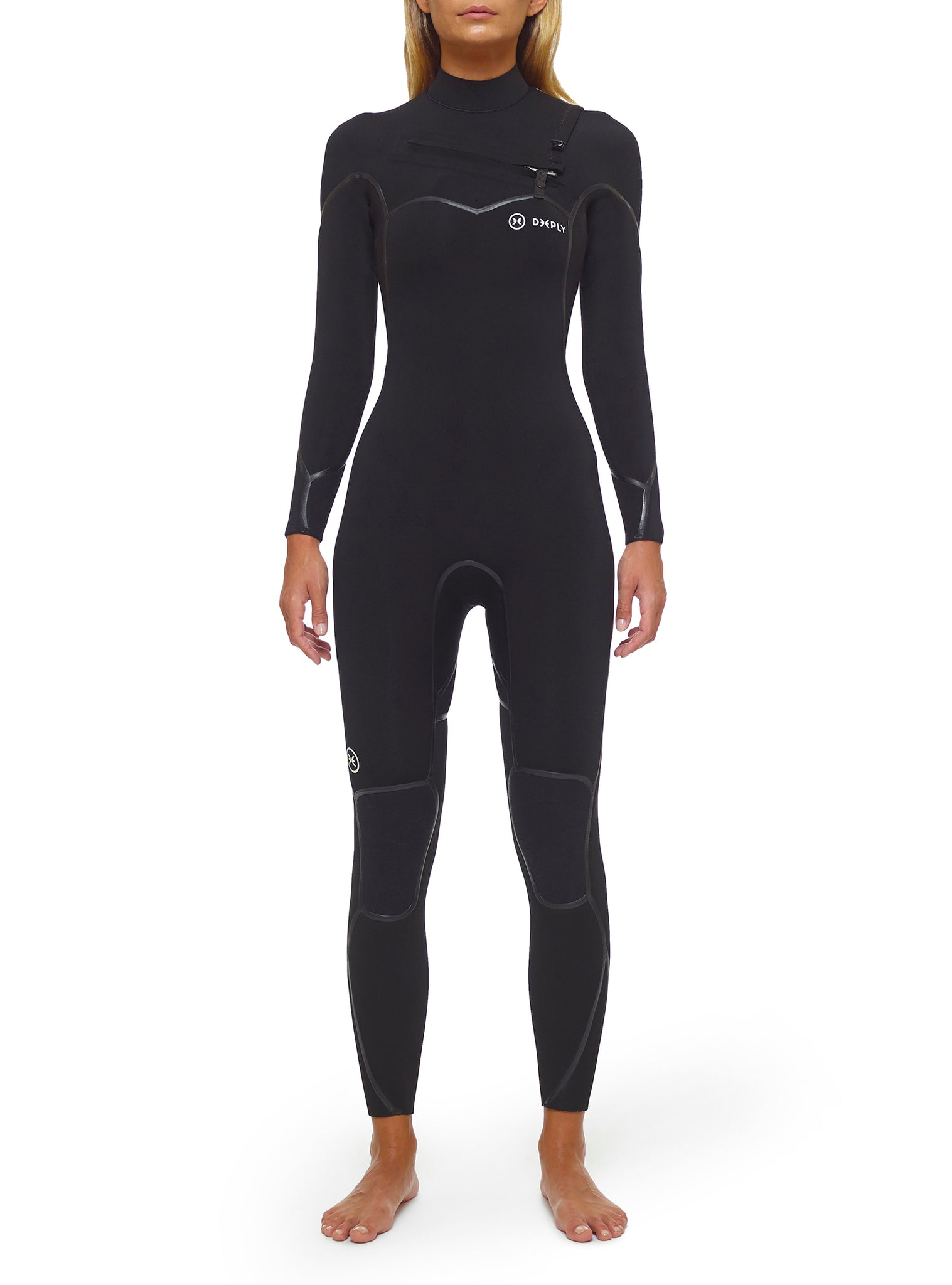 Wetsuit Woman Performance 5/3 Chest Zip Black