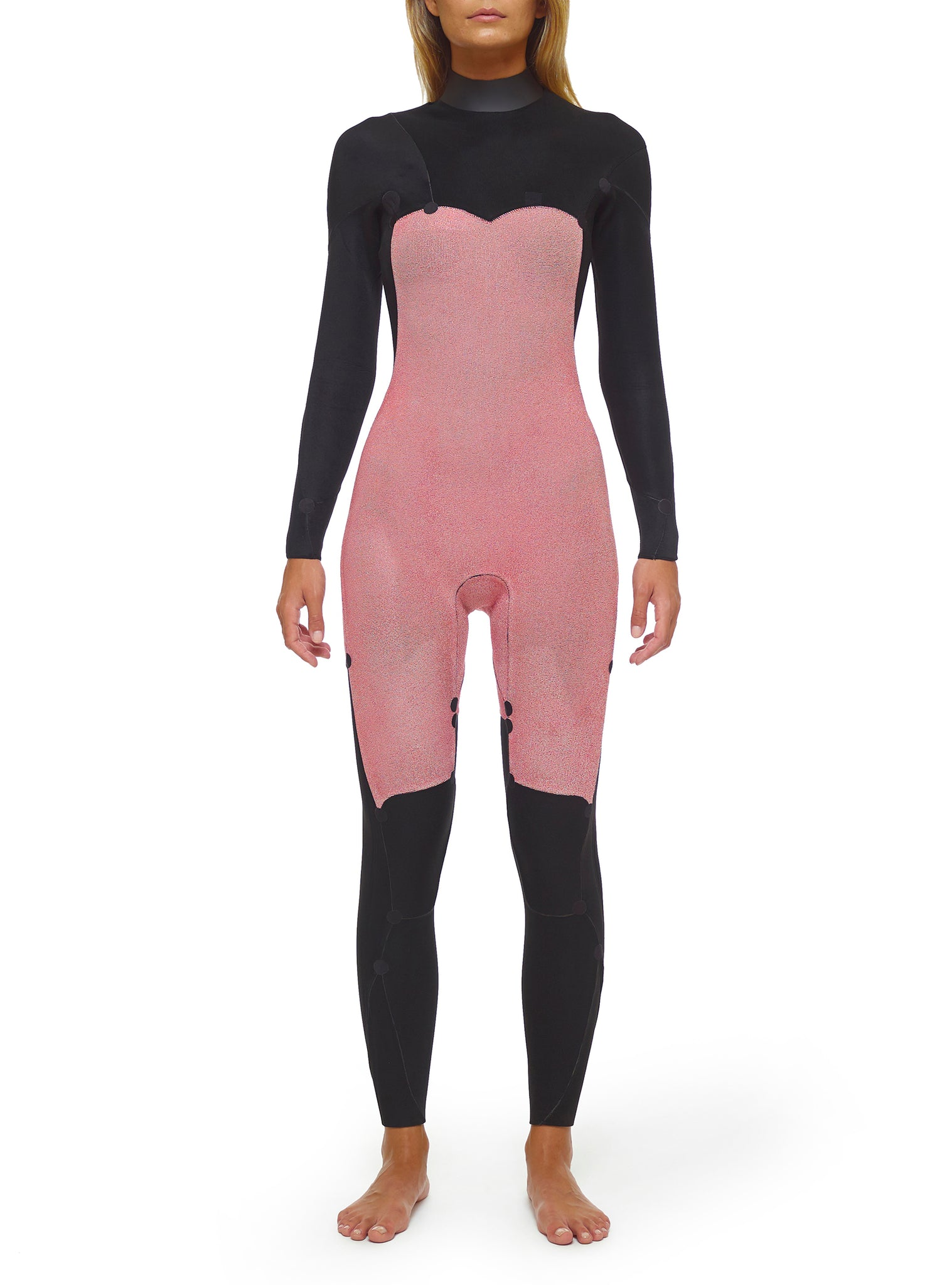 Wetsuit Woman Performance 4/3 Chest Zip Black