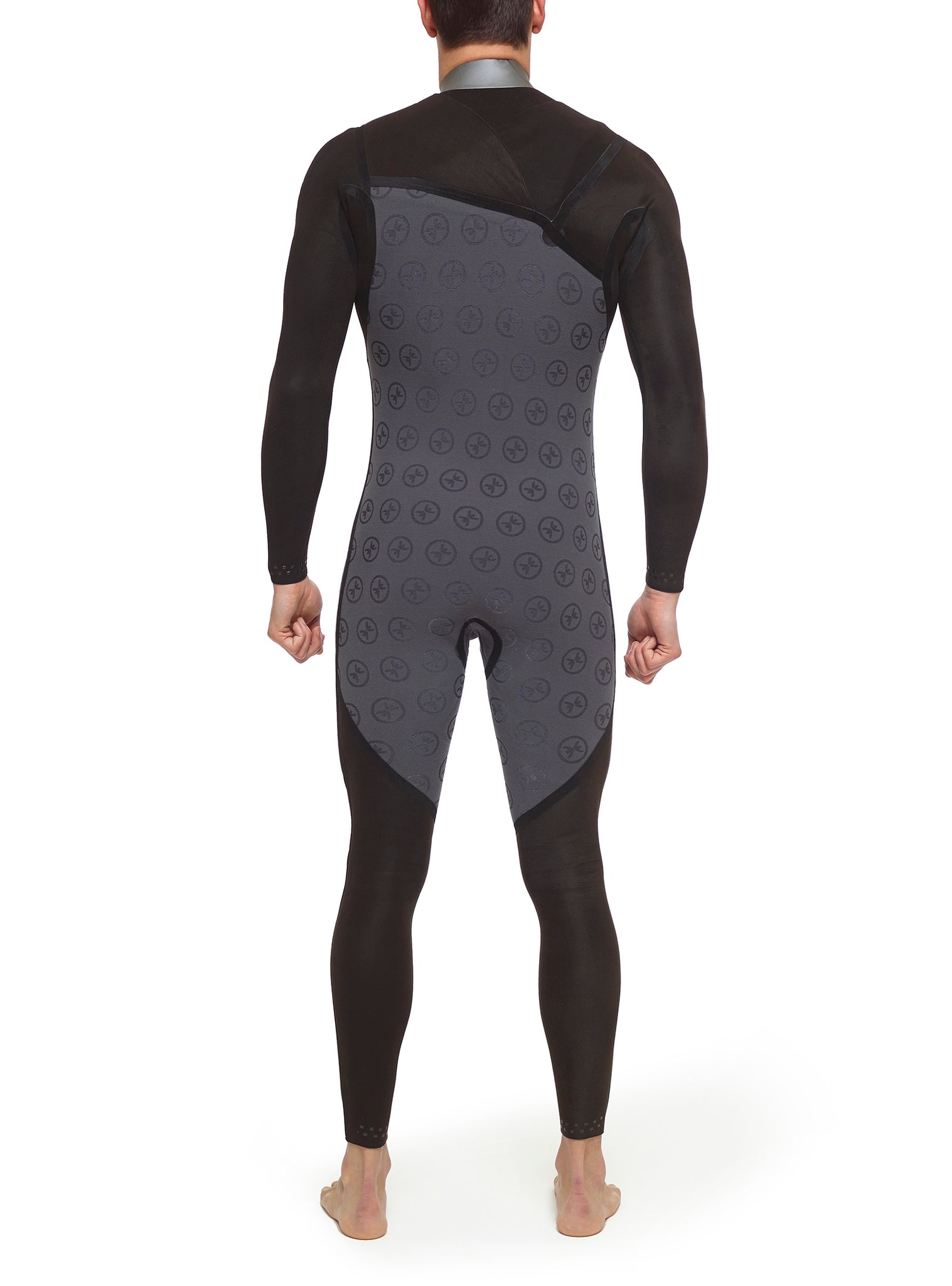 Wetsuit Man Competition 3/2 Chest Zip Blue