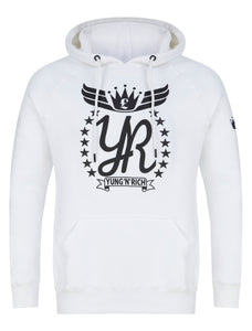 YUNG'N'RICH White Hoodie Jumper Apparel & Accessories > Clothing > hoodie > jumper > sweater