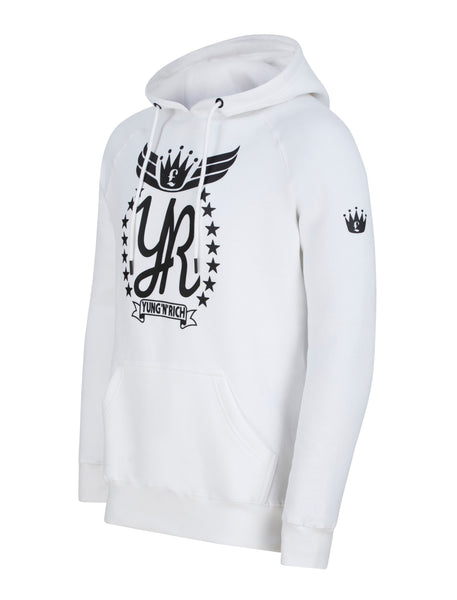 YUNG'N'RICH White Hoodie Jumper side viewApparel & Accessories > Clothing > hoodie > jumper > sweater