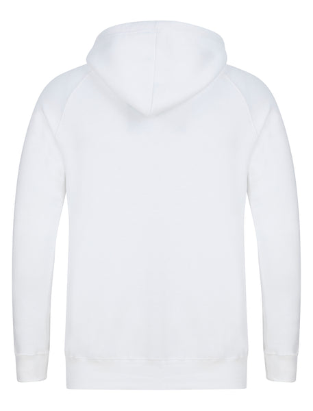 YUNG'N'RICH White Hoodie Jumper back view