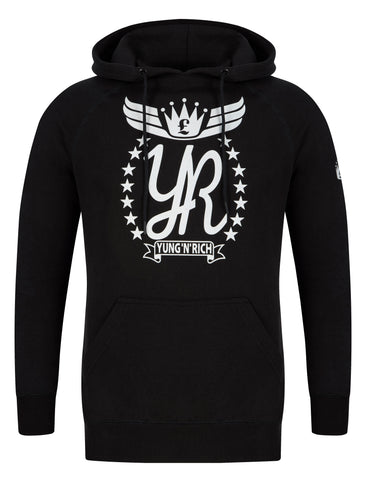 YUNG'N'RICH Hoodie SWEATER  Jumper black white rubber logo