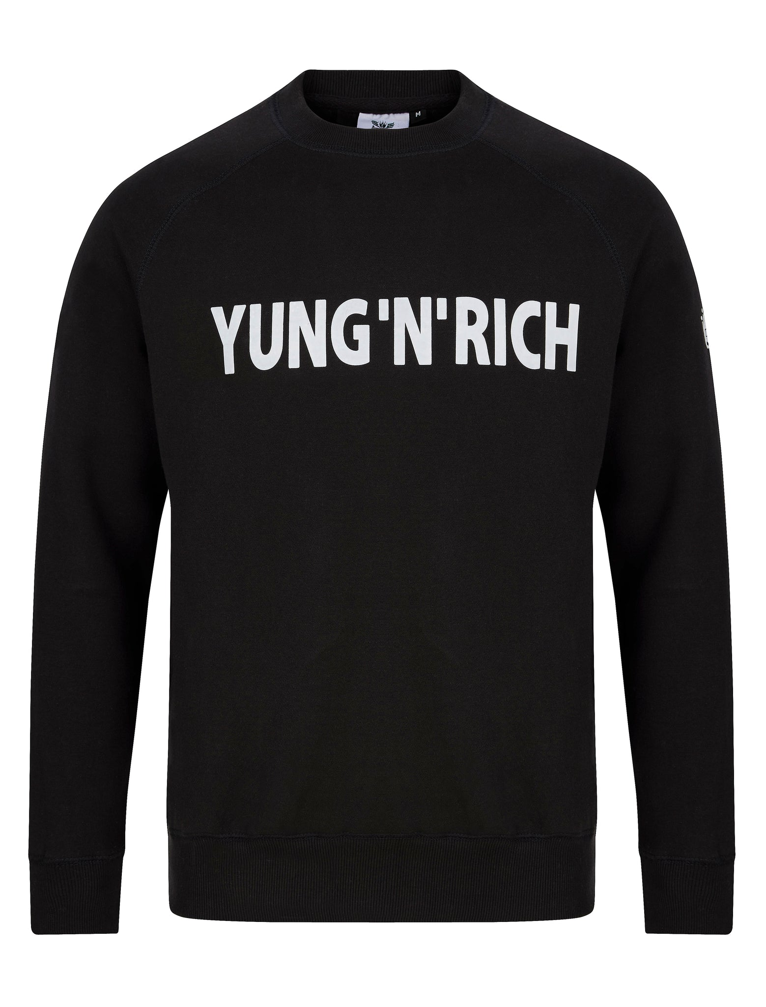 Yung'n'Rich Black Jumper Sweater White Wording Apparel & Accessories > Clothing >  jumper > sweater