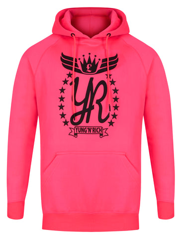 YUNG'N'RICH NEON GREEN HOODY JUMPER BLACK RUBBER LOGO  Apparel & Accessories > Clothing > hoodie > jumper > sweater
