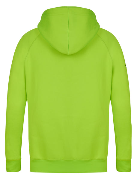 back of the hoodie Yungnrich illuminous Green Hoodie Jumper Black Logo