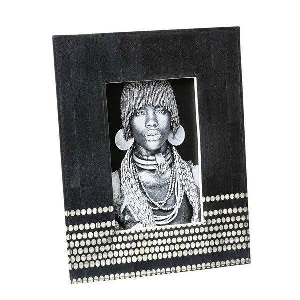 Black Stained Bone Tribal Frame 4x6