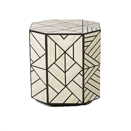 Bone Art Deco Inlaid Side Table