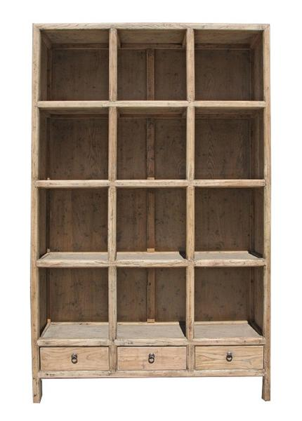 Chinese Elm Display Cabinet