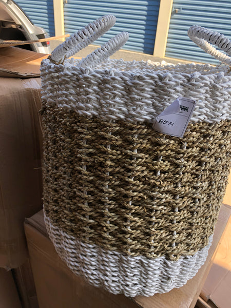 Round Handle Woven Basket