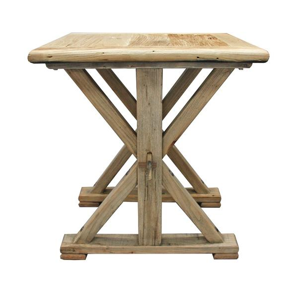 Chinese Elm Lamp Table