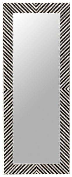 Bone Inlay Mirror Chevron
