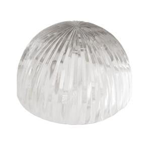 Medium Half Circle Rib Glass Paper Weight