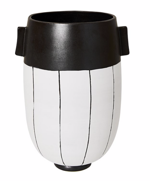 Chocolate Stripe Vase L