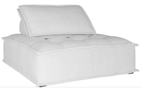 Collins Sofa White Corduroy Uniqwa Furniture