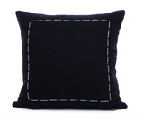 Natural Cotton Cushion with Stitching
