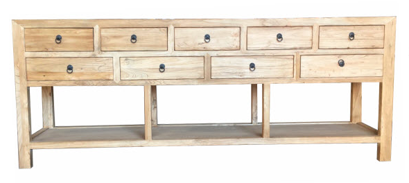 Elm Orient 9 Drawer Side Table