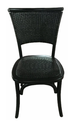Plantation Dining Chair Black Rubbed Finish