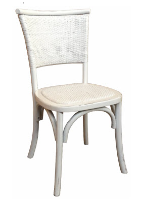 Plantation Dining Chair White Rubbed Finish