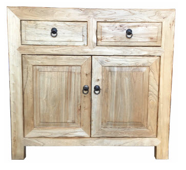 Elm Orient 2 Drawer 2 Door Cabinet