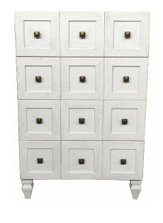 4 Drawer Chest White Wash