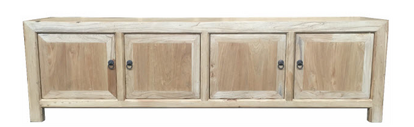 Recycled Elm 4 Door Entertainment Unit