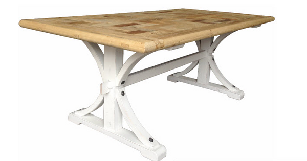 Antilles Dining Table Rectangle White Base