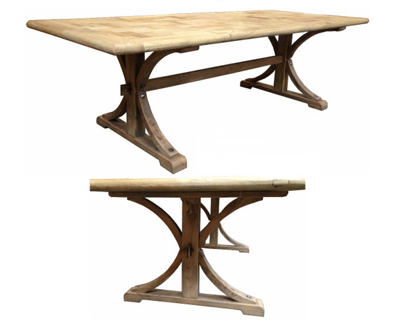 Antilles Dining Table Rectangle Natural Base