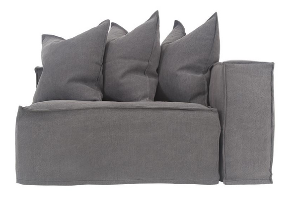 Hendrix Sofa Right Hand Arm Uniqwa Furniture Charcoal