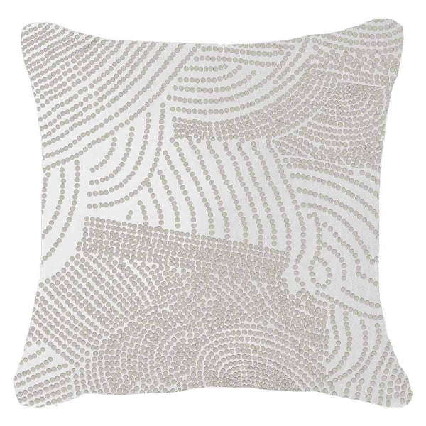 Dreamtime Dots white Lounge Cushion