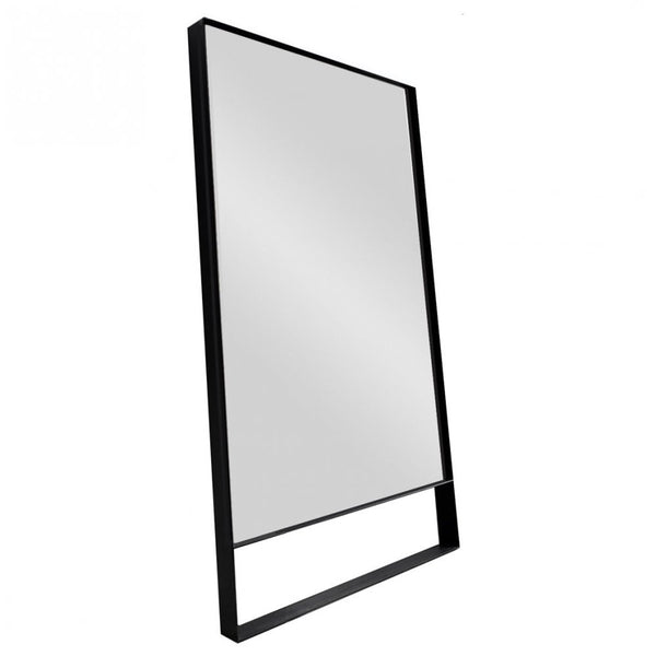 Indoor Mirror with black metal surround with bottom space detail