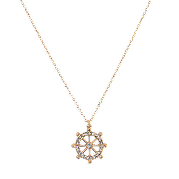 Wheel Pendant Necklace