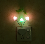 LED 3 Color Mushroom Lamp Night Light