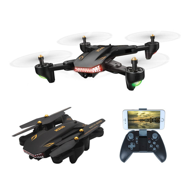 Foldable Selfie Drone with Wide Angle 2MP HD Camera Quadcopter Helicopter
