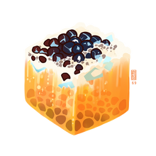 Load image into Gallery viewer, Boba Bubble Tea Cube
