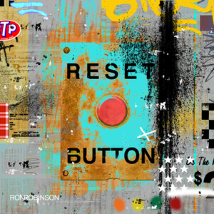 RE-SET BUTTON BLUE <br /> by Mark Andrew Allen