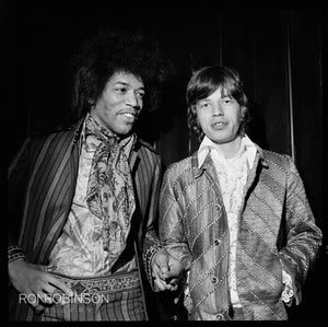 Mick & Jimi, Top of the Pops, 1967 by Alec Byrne