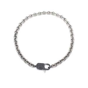 PAULA ROSEN - Betty Black Spinel Silver Lock
