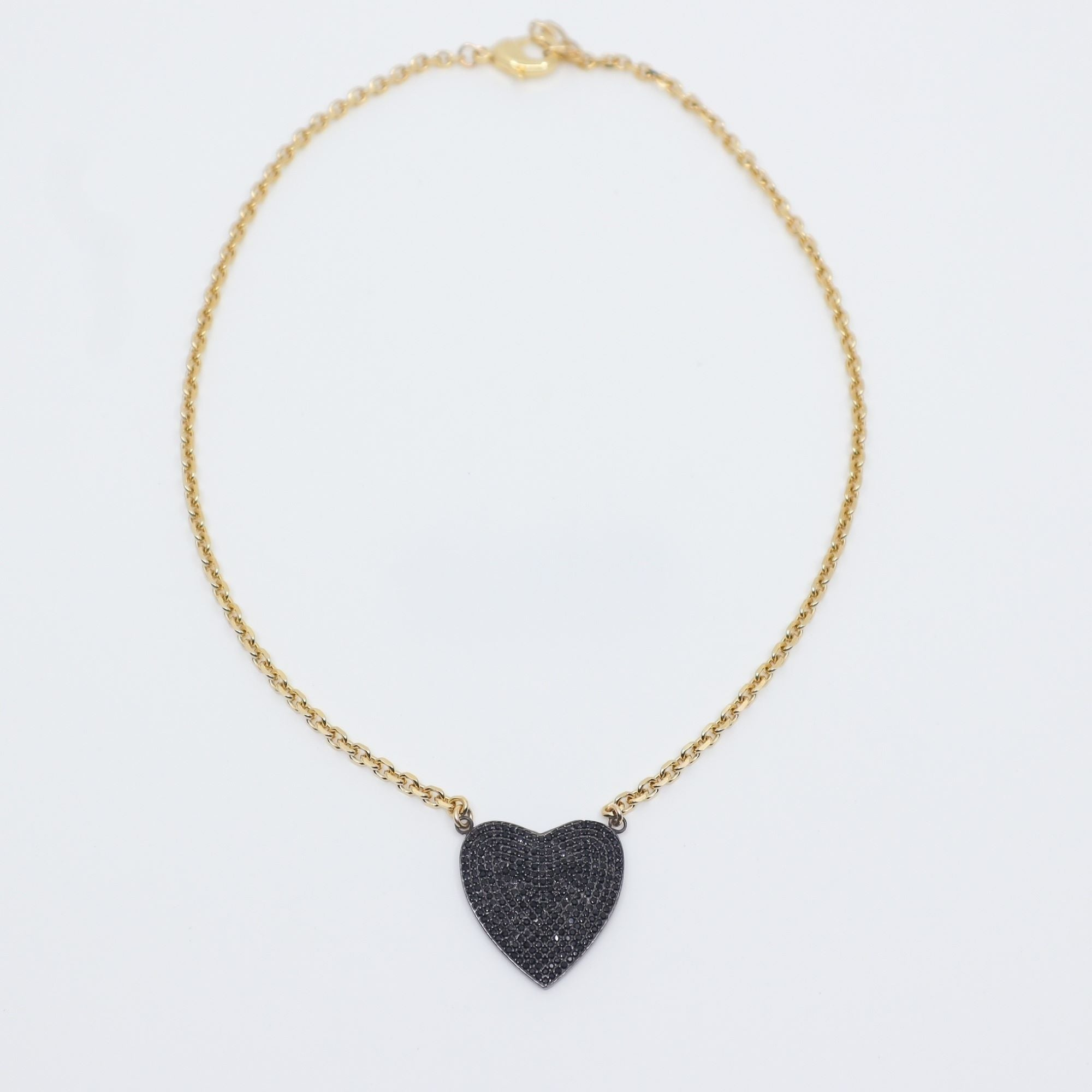 PAULA ROSEN - Spinel Heart with Gold Plated Chain