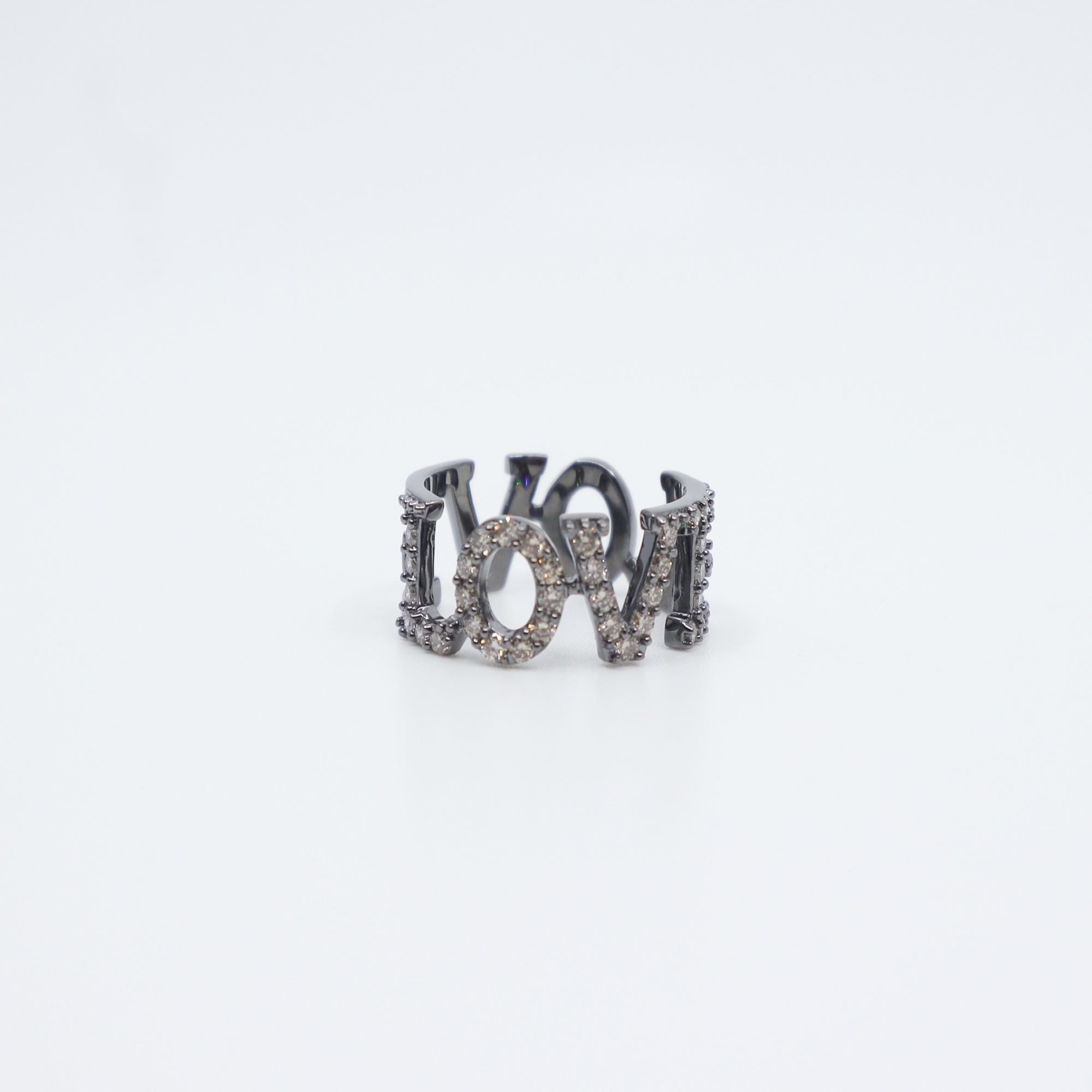 PAULA ROSEN - Diamond LOVE Letter Ring
